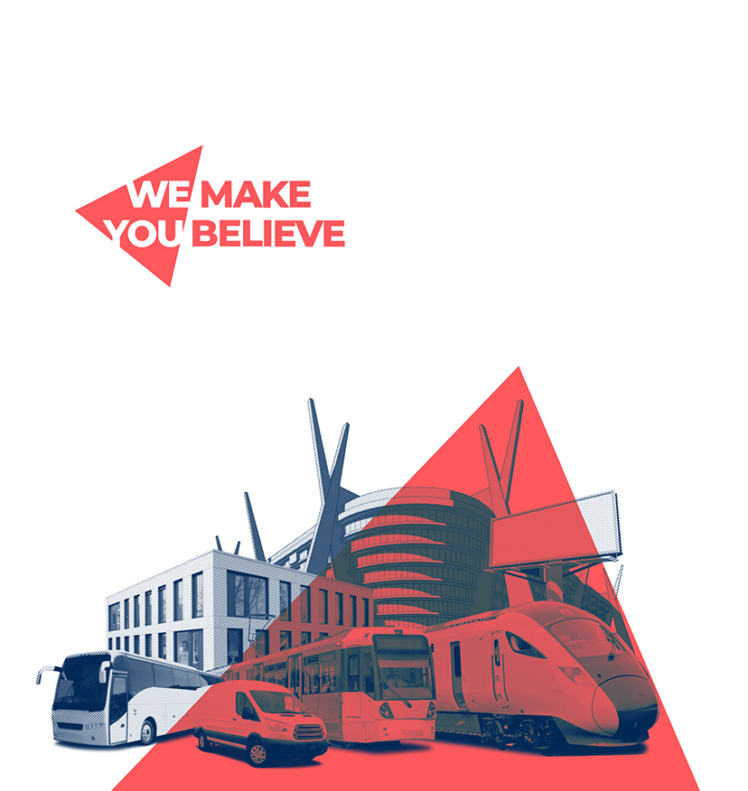 Aura Web Header whole design with Tagline We Make You Believe