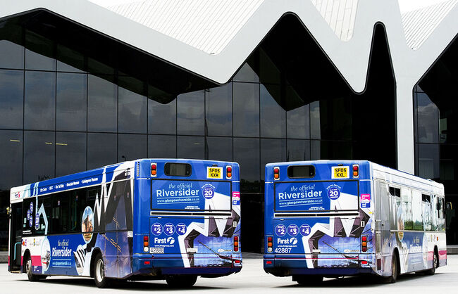 First Group Glasgow Riversider Bus wrap