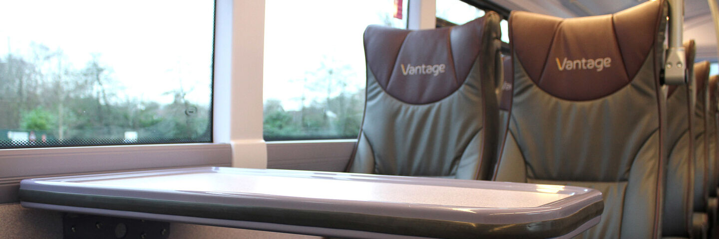 Branded interiors for Vantage premium bus service