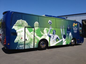 Fully wrapped coach for Brazilian Olympic Team