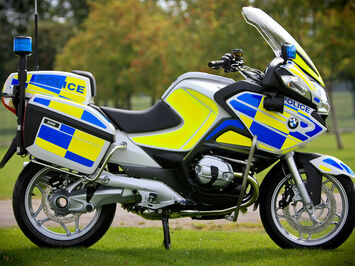 Conspitcuity and reflective livery for Police bikes