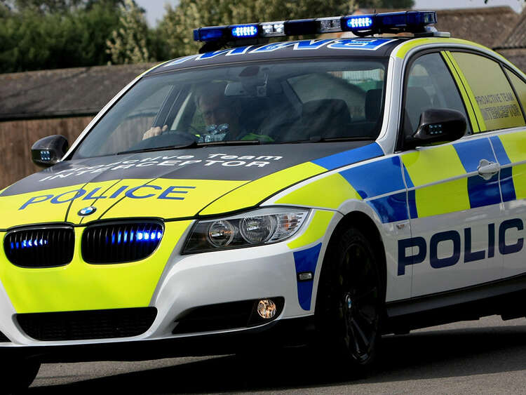 New BMW Police Interceptor using special wrapping film and high conspicuity markings