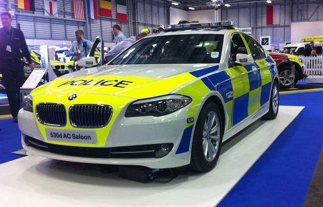 BMW Police car wrap