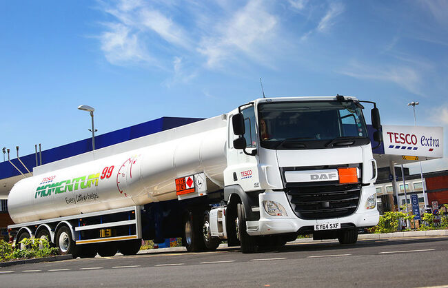 Fuel distribution tanker graphics for Tesco