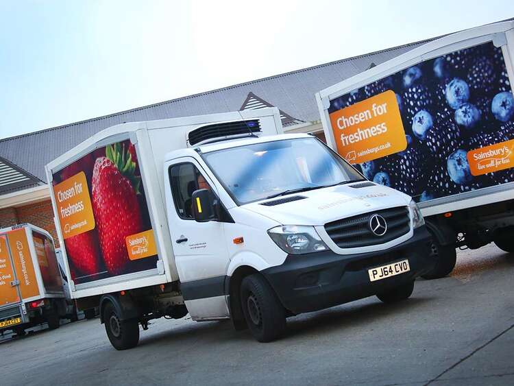 Advertisign banner system for Sainsbury's Home Delivery trucks