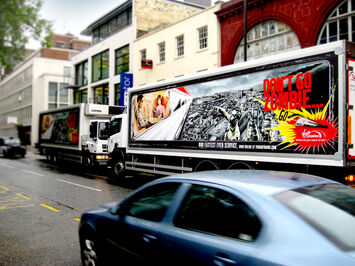 Advertising campaign for Virgin Trains delivered using mobile media platform for trucks