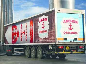 Full coverage livery on Arla truck for Anchor Cream Branding