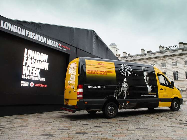 Promotional van wrap for DHL London Fashion Week