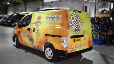 Non-pvc vehicle wrap for Commerical Group electric van
