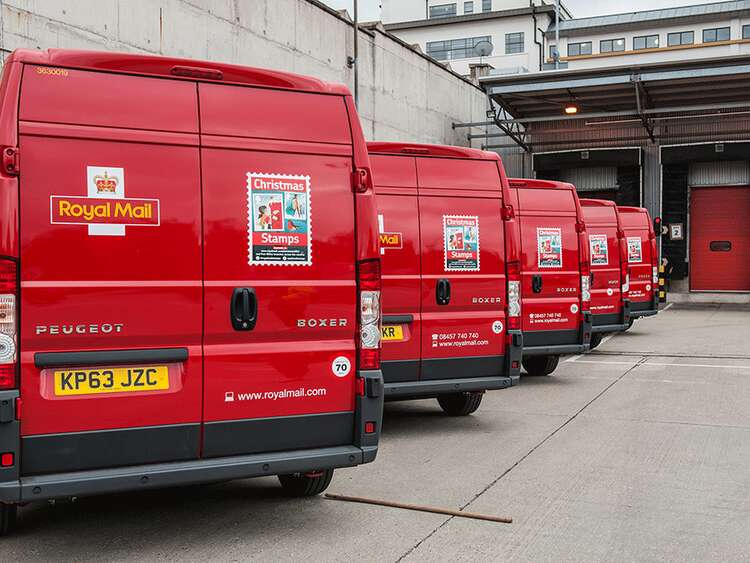 Royal Mail Christmas stamp campaign vehicle graphics