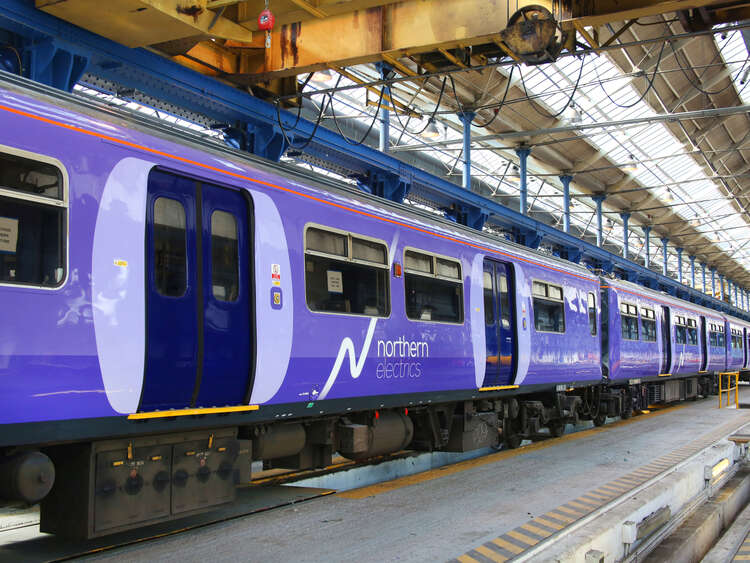 Exterior graphics for Northern Electrics livery on class 319 rolling stock