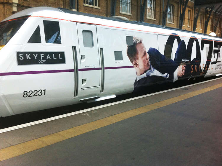 Skyfall 007 train named to launch new Bond DVD release