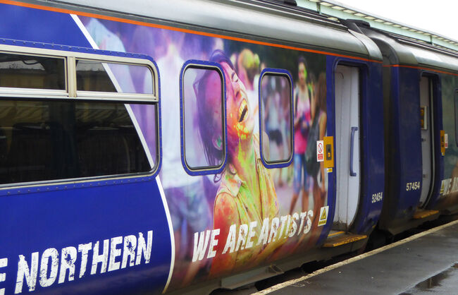 Northen Arriva train Wrap
