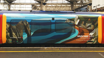South West Trains Art On Board Special train wrap designs
