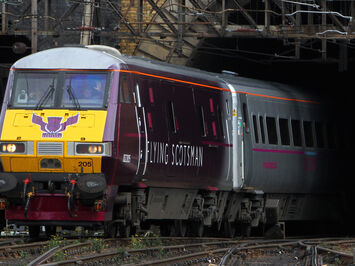 Flying Scotsman train wrap livery for new East Coast service