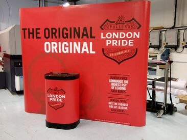 Pop up banner event exhibition stand for London Pride campaign