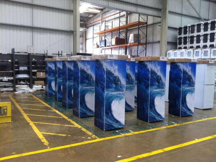 Printed graphic wraps to decorate Indesit fridges