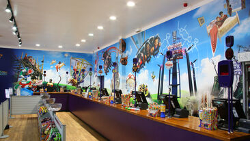 Alton Towers Wall Wrap using printed graphics for retail store branding