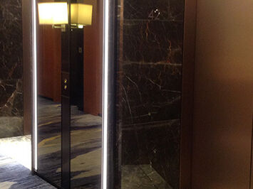 3M Di-Noc Architectural surface films used to decorate hotel lift doors