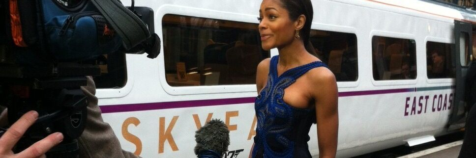 Naomie Harris at Skyfall Train wrap unveiling