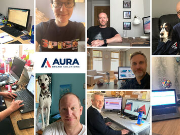 Some of the Aura team working from home during the current coronavirus crisis