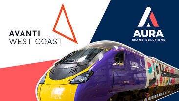 Avanti West Coast and Aura Brand Solutions working together for Pride train wrap