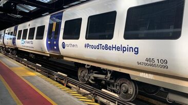 Northern Train wrapped by Aura Brand Solutions, supporting NHS and Key Workers