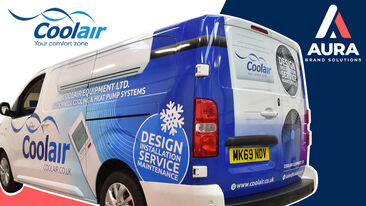 Coolair rebrand van wrap youtube thumbnail