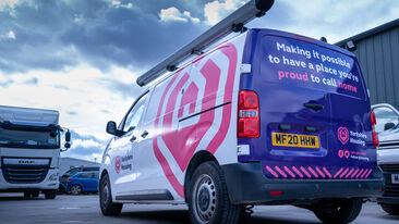 Rebranded Fleet for Yorkshire Housing including Van Wrapping