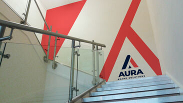Aura Brand Solutions Concept Stairwell wall graphics