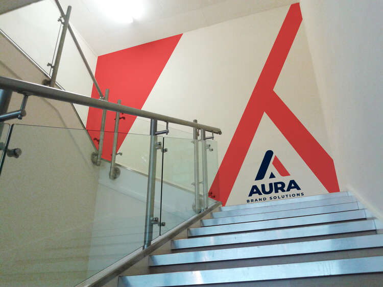 Aura Brand Solutions branded interior wall graphics