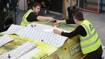Commerical Group van wrapping using non-pvc self-adhesive films