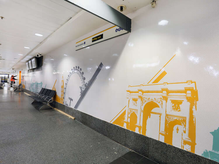 Interior Graphics Help Enhance Victoria Coach Station Aura