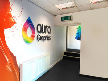 Aura Entrance Logo Wall