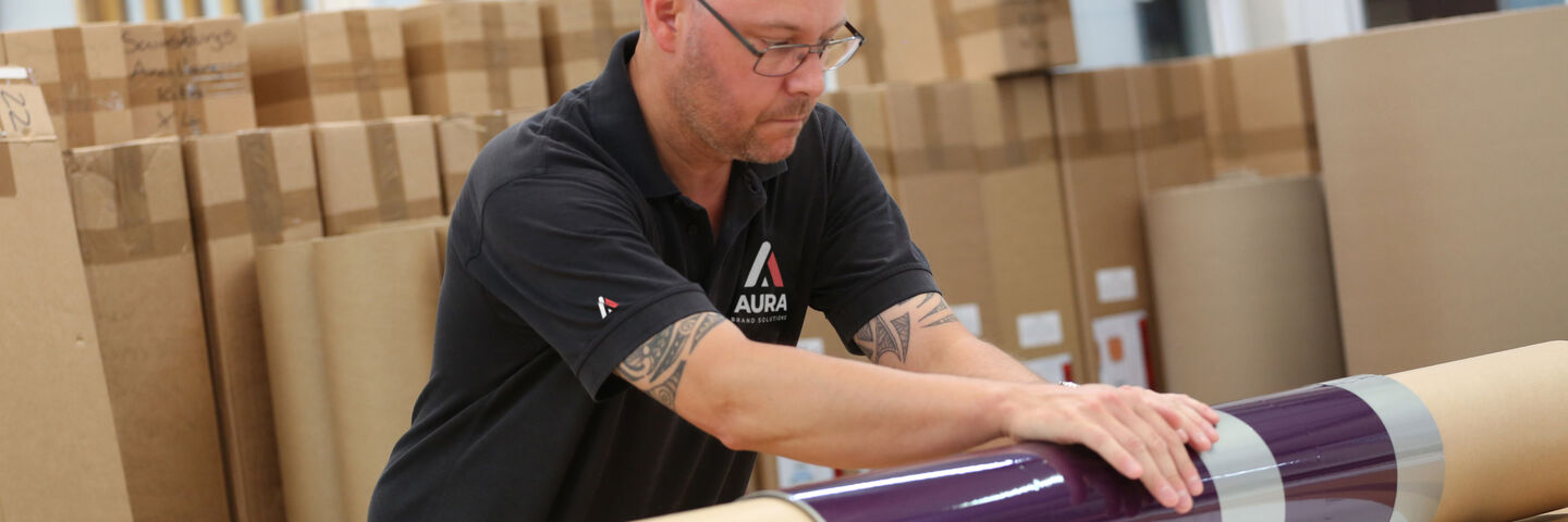 Aura Brand Solutions graphics despatch process