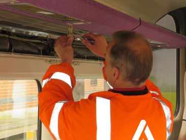 Electrical rewiring as part of Grand Central Trains Interior Refresh