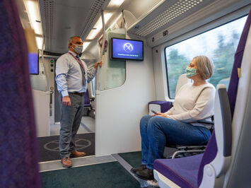 Heathrow Express rail carriage disability seat gangway space