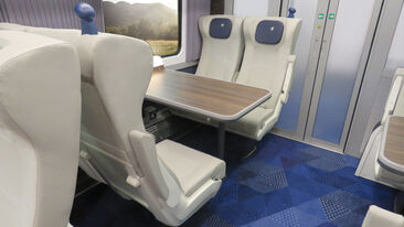 Sleek and modern design and fit for Transpennine Express rail carriage