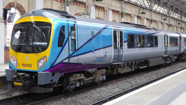 Striking new rail livery for First Transpennine Express Class 185 train branding