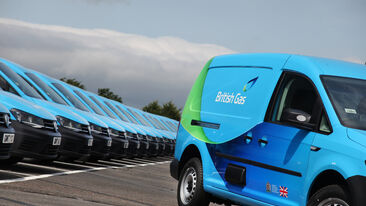 Consistent fleet branding for British Gas commercial vehicle fleet
