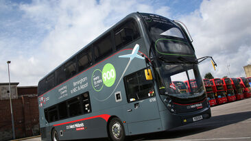 Bus livery, route branding and labels on National Express West Midlands Platinum fleet