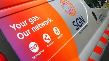 SGN van wrap rebrand livery close up