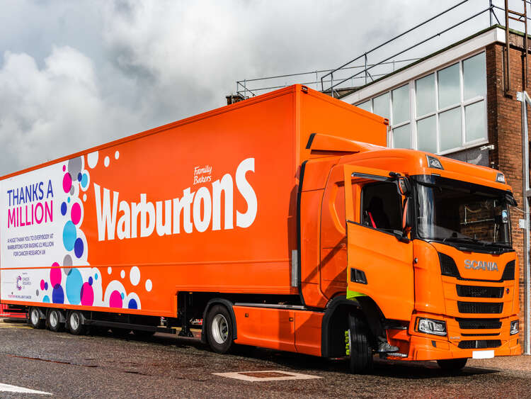Full Warburtons Cancer Research UK Trailer