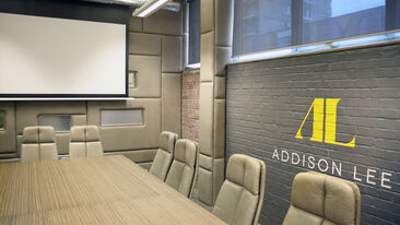 Interior wall graphics for Addison Lee office rebranding