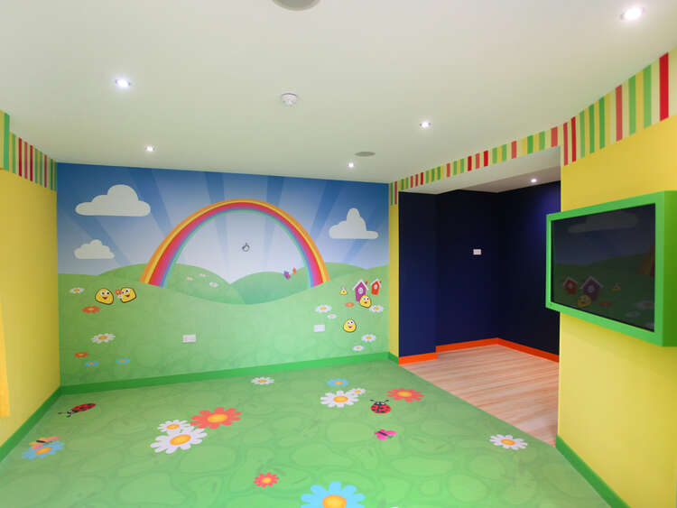 Finished redesign for flowery room at Alton Towers