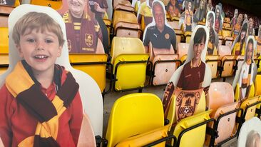 Bespoke football fan cut outs stadium product