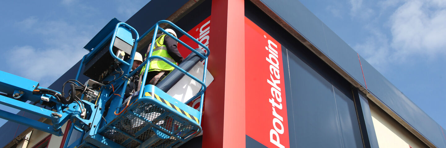Portakabin Brandsburton Building Wrap using self-adhesive prints and painting services