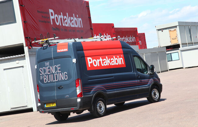 Portakabin vehicle livery and printed banners