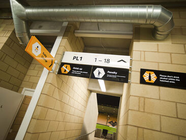 Wayfinding & information signage for visitors to Wolves football ground